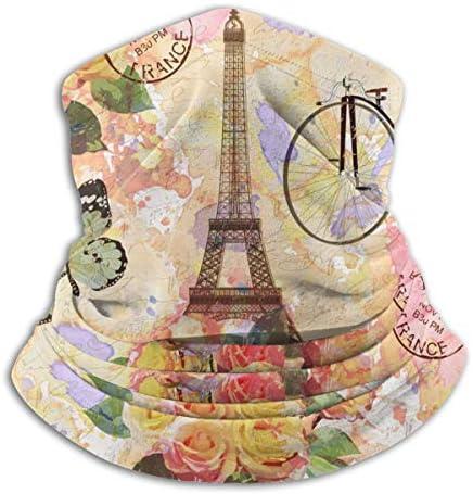 Paris Towel With Butterfly ネックガード UVカット バンダナ クールなア フェイスガード 多機能 マジックスカーフ