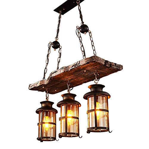 BAYCHEER HL449356 Industrial Woody Wrought Iron 3 Lights Pen
