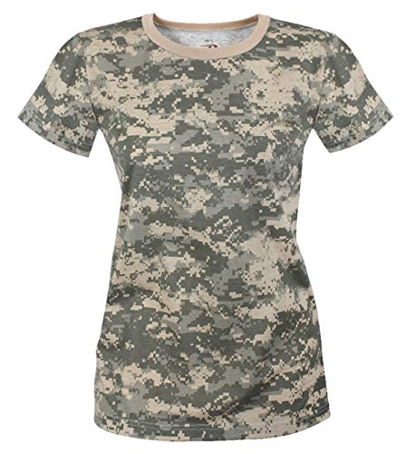 - Rothco Womens Long Length Camo T-Shirt, S, ACU Digital Camo