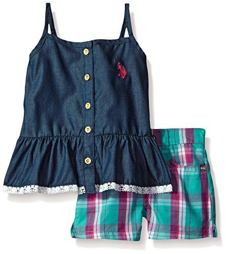Girls Pink Plaid Shorts - 3