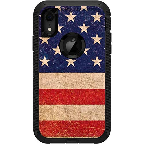 - Skinit Distressed American Flag OtterBox Defender iPhone XR Skin - American Flags OtterBox Case Decal - Ultra Thin, Lightweight Vinyl Decal Protection