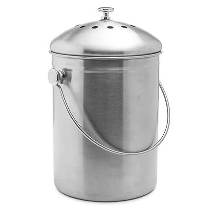 Konnison-2 Contenedor de Compost Cubo de Compost Cocina Encimera Cubo de Basura Cubo Contenedor
