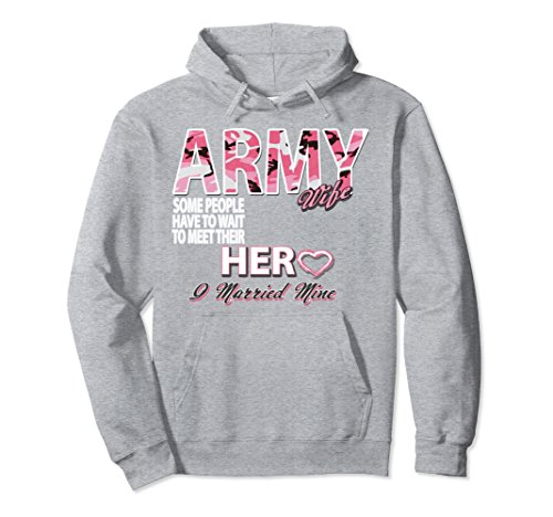 Unisex Army Wife Hoodie Large Heather Grey