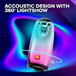 JBL Pulse 4, Wireless Portable Bluetooth Speaker with Customizable Ambient Lightshow, JBL Signature Sound with Bass…
