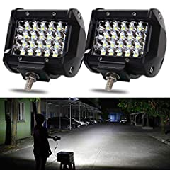 LED Pods,NAO 4'' 144W LED Light Bar Work Light Spot Beam Driving Lights 2PCS Quad Row Off road Fog Lamps For Truck Jeep ATV UTV SUV Boat Marine, 2 Years WarrantySpecificationsWattage: 144W/pairLED Source: LEDColor Temperature: 6000KWorking Vo...