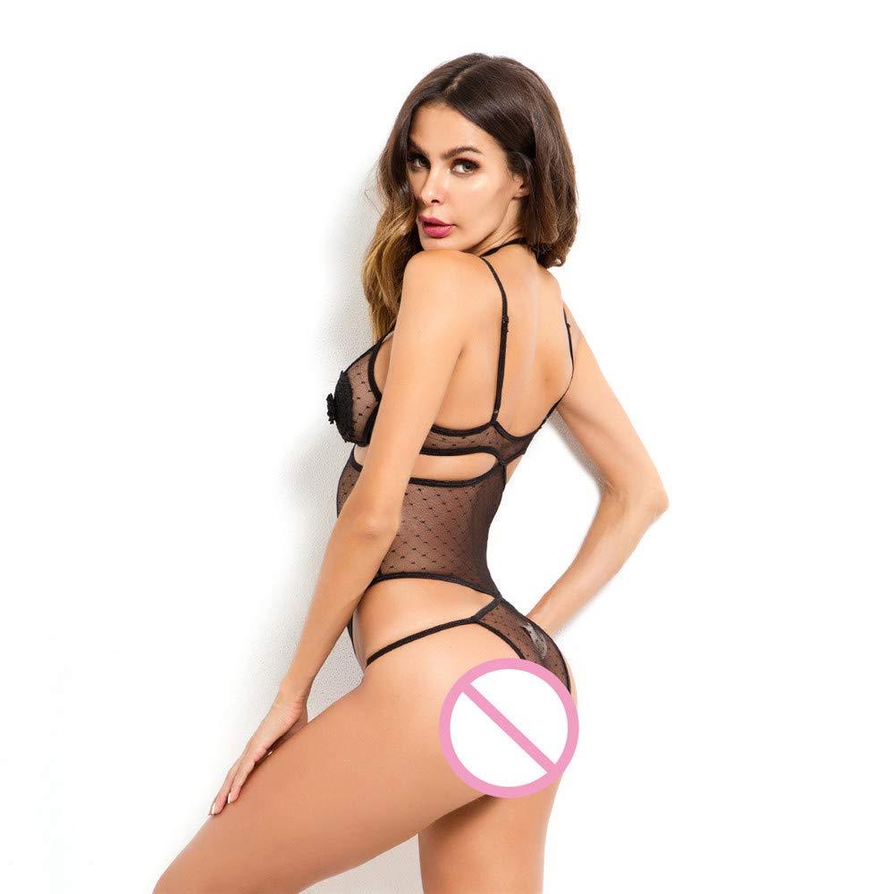 GPTOK Conjuntos de lencería Europa y los Estados señoras Unidos lencería sexy lencería sexual encaje cosiendo señoras Estados onesies, M busto 68-94 cintura 66-88 longitud 56 501541