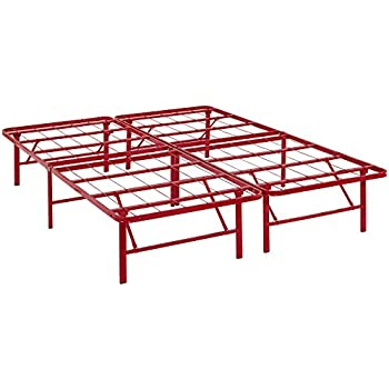 Amazon Com Modway Horizon Queen Bed Frame In Red