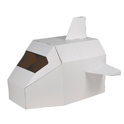 Hab & Gut -CT001- Astronave de cartón Speed Shuttle, Nave Espacial para Plegar