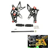 ZX-10R Rearsets Footpegs Rear Sets for KAWASAKI Ninja ZX-10R 06-07 2006 2007 (black)