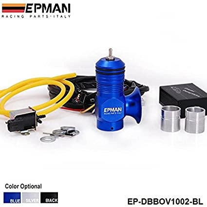 EPMAN Universal Electrical Turbo Diesel Dump Blow Off Valve Bov Kit (Blue)