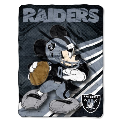 Fleece Raiders Nfl Blanket Oakland - The Northwest Company Officially Licensed NFL Oakland Raiders Co Disney's Mickey Micro Raschel Throw Blanket