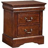 Alpine Furniture West Haven 2 Drawer Nightstand