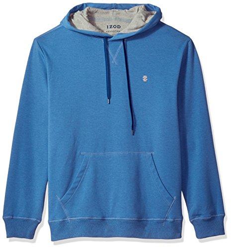 IZOD Men's Advantage Performance Long Sleeve Fleece Hoodie, Federal Blue, - Soft Jacket Advantage