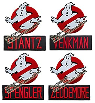 "FairyMotion 4"" Ghostbusters Logo And Name Tag Fabric Clothes Patch Kids  Collection Diy Cartoon Embroidered"