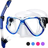 Greatever 2019 Newest Dry Snorkel Set,Panoramic Wide View,Anti-Fog Scuba Diving Mask,Easy Breathing