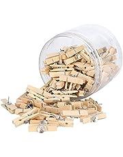 100st push pins voor prikbord, punaises met houten clips voor kurkbord, kunstwerken notities foto's, ambachtelijke projecten, kantoren en huizen