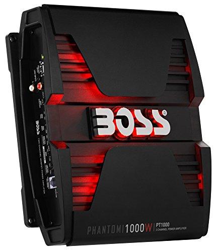 Dual 2 Magnum - BOSS Audio PT1000 Phantom 1000 Watt, 2 Channel, 2/4 Ohm Stable Class A/B, Full Range, Bridgeable, MOSFET Car Amplifier with Remote Subwoofer Control