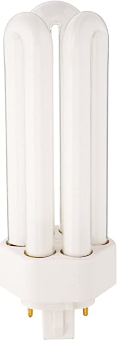 GE 97630 (25-Pack) F32TBX/830/A/ECO 32-Watt Energy Smart Ecolux Triple Tube Compact Fluorescent Light Bulb, 3000K, 2400 Lumens, 82 CRI, T4 Shape, 4-Pin GX24q-3 Base