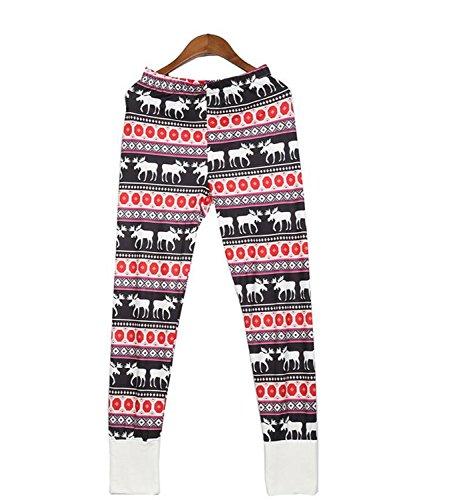 notte donne da Natale di delle Dimensione costume del indumenti pigiami pigiama Il camice lunghezza Rosso Rosso notte Nuovo DANDANJIE delle 2018 le da renne M mette di delle Colore q7ZzCC