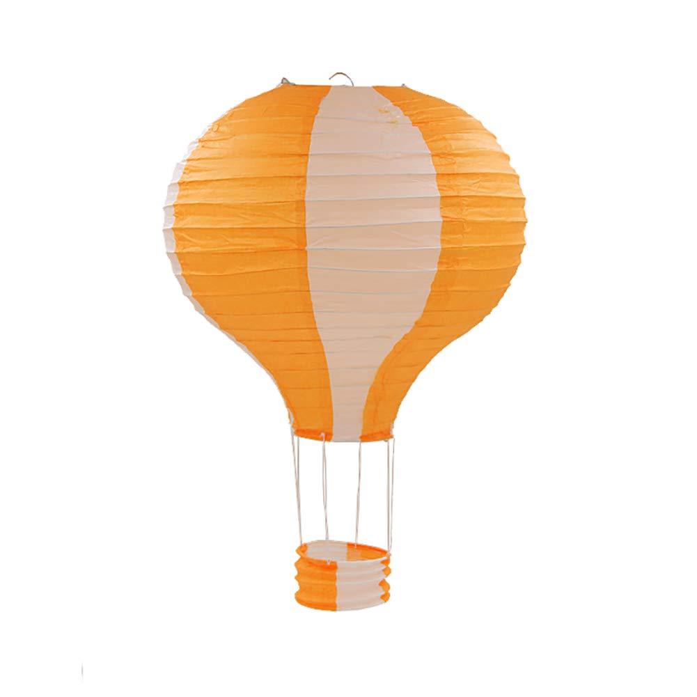 TREESTAR Ballon À Air Chaud en Papier Lanterne en Papier Abat-Jour Artisanat Décoration pour Plafond Maternelle Partie Décor À La Maison 30cm / 11.8 dans