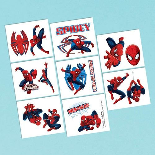 Spiderman Tattoo Favors (16 Pack) - Party Supplies