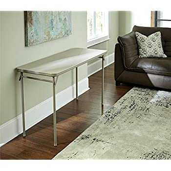 Cosco Dorel Industries Rectangle Vinyl Top Folding Serving Table, 20 X  48 Inch,