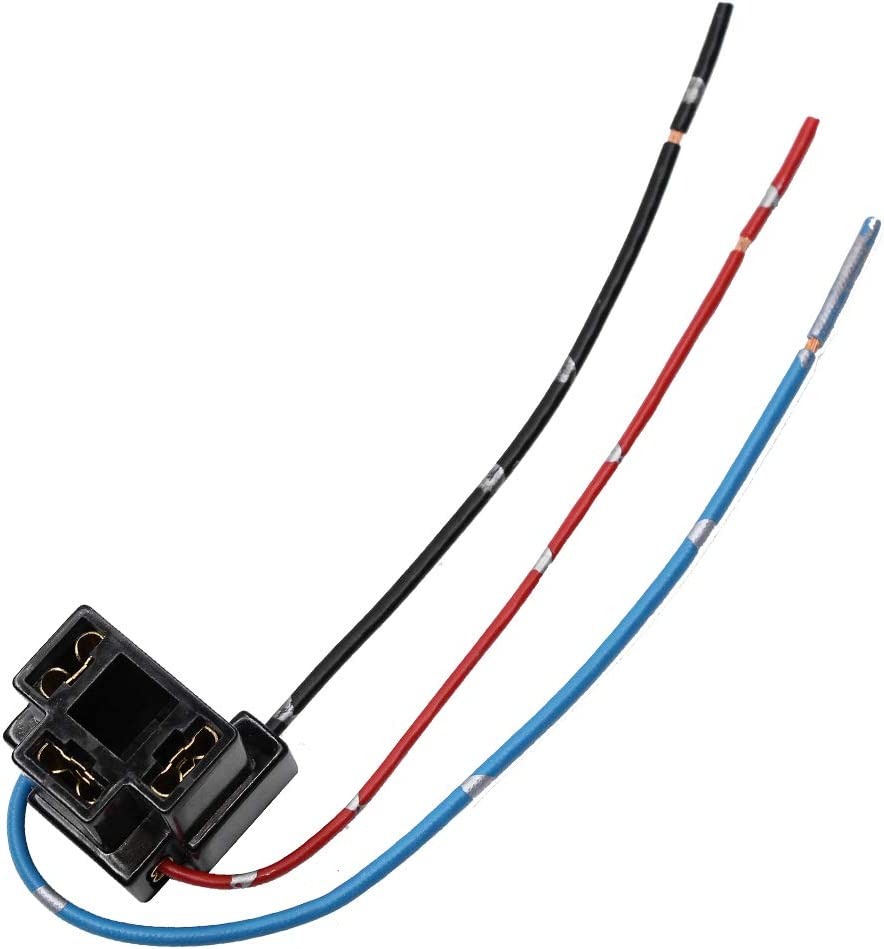 H1 H3 Converter Wiring YUNPICAR H1 Male Plug Single Diode Extension Socket Wire Harness Connector Holder for LED Headlights Bulb Conversion