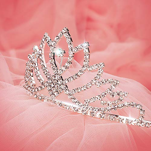 Makone Womens Crystal Tiara Crown Headband for Wedding Prom Bridal Birthday (style 1) ()