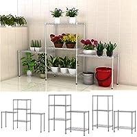Ferty 5 Wire Shelving Units Stacking Storage Shelf, Heavy Duty Metal Adjustable Shelves Rack Organizer for Garden Laundry Bathroom Kitchen Pantry Closet (US Stock)