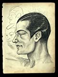 1920's Vincent Zito Caricature of Rudolph Valentino Autographed by Valentino