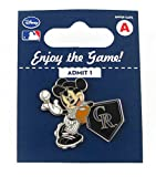 MLB Colorado Rockies Disney Pin - Mickey Leaning on Home Base