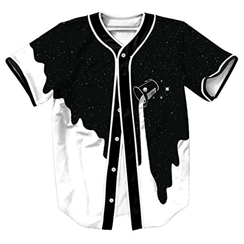 d43a6eb7e53 OYABEAUTY Unisex Arc Bottom 3D Print Baseball Team Jersey Shirt ...