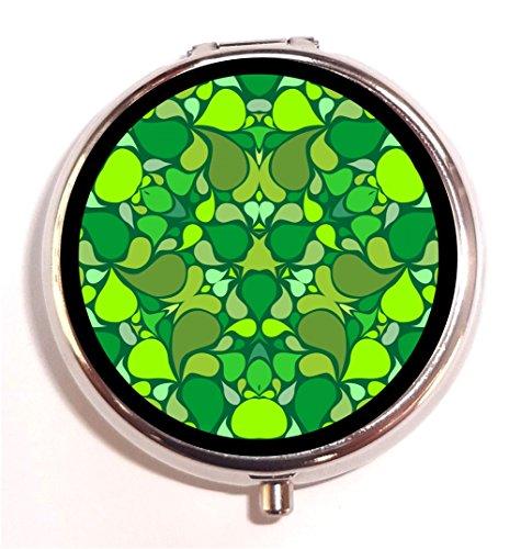 - Leaves Kaleidoscope Pill Box Pillbox Case Holder Trippy Pattern Leaf