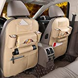 Car Organizer Car Back Seat Organizer Black/Brown/Beige/Red Leather Multifunction for All Kinds of Cars
