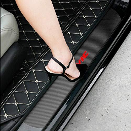 - SENYAZON Civic Decal Sticker Carbon Fibre Vinyl Reflective Car Door Sill Decoration Scuff Plate for Honda Civic (Black)