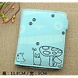 Wallet Men Women Cool PU Leather Money Fold Anime Purse Cosplay Totoro Cat Drawing Totoro