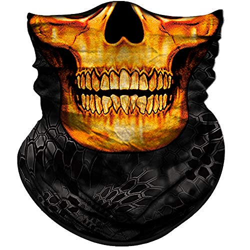 Obacle Skull Face Mask Half for Dust Wind UV Sun Protection Seamless 3D Tube Mask Bandana for Men Women Durable Thin Breathable Skeleton Mask Motorcycle Riding Biker Fishing Cycling Sports Festival]()