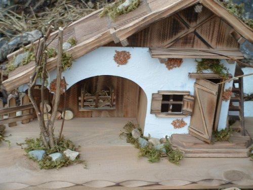 Modellhaus grosses Holzhaus Krippe 55cm