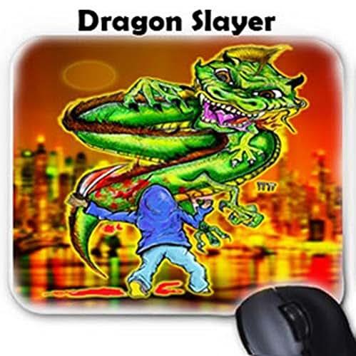 Amazon.com: GT Artland Dragon Slayer On Mouse Pad: Handmade