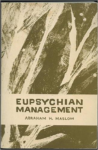 Eupsychian Management: A Journal: Abraham H  Maslow: Amazon com: Books