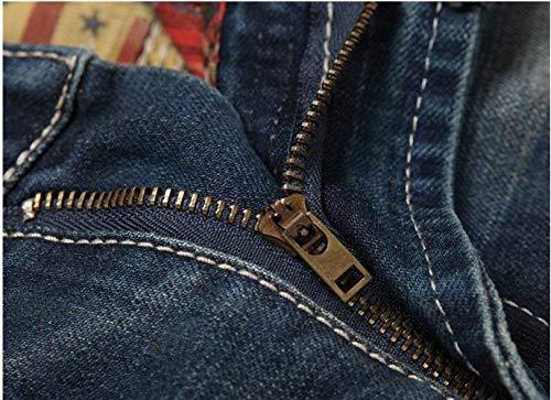 Pantaloni Originali Slim Moda Hanno Dritti Old Da Giovane Cotone Uomo I Tendenza Ne Jeans Blau In Casual Originality xFq6YgwY7