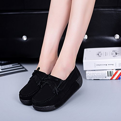 Comfort Casual YZHYXS Shoes On Sneakers Shoes Flats Black Slip 12 Platform Women Wedge zYwTqxY4A