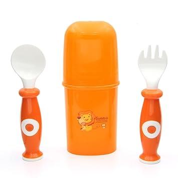 Amazon.com: Simba Conjunto de cuchara y tenedor con Caso de ...