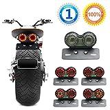 Dual Cat Eye Tail Light Brake License Plate for Motorcycle Motorcross Universal Bobber Cafe Racer ATV Chopper
