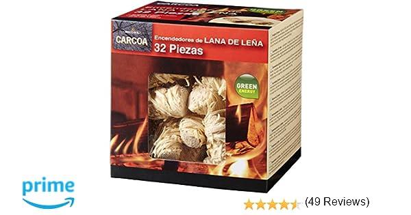 Carcoa Fuego 0326 Pastillas de Lana de Leña FSC 100%, 1 Paquete de ...
