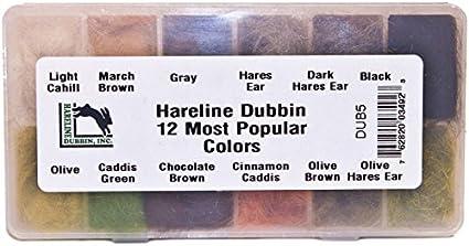 Hareline Dubbin Dispenser Natural Rabbit Hair Fly Tying Material
