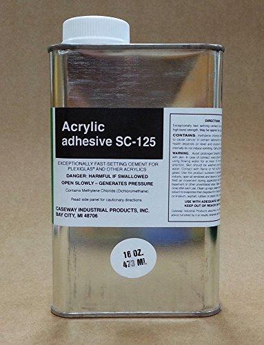 [해외]Caseway SC-125 아크릴 플렉시 유리 용제 시멘트 - 1 파인트 (16 oz)/Caseway SC-125 Acrylic   Plexiglass Adhesive Solvent Cement - 1 Pint (16