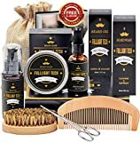 Beard Kit for Men Grooming & Care W/Beard Wash/Shampoo,Unscented Beard Growth Oil,Beard Balm