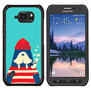 GIFT CHOICE / Teléfono Estuche protector Duro Cáscara Funda Cubierta Caso / Hard Case for Samsung Galaxy S6Active Active G890A // Walrus Sailor Monster Illustration //