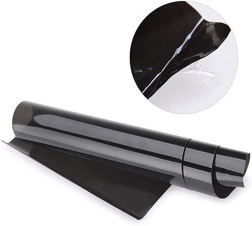 Shsyue/® Autocollant Voiture Adhesif Thermoformable//Carbone Vinyle Emballer Voiture Autocollant 30 x 60cm Noir